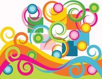 Fête spiralée illustration stock