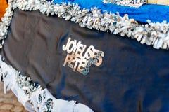 Fêtes de Joyeuses traduisant en tant que bonnes fêtes Photos libres de droits