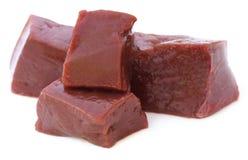 Fígado da carne imagens de stock royalty free