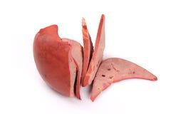 Fígado da carne de porco foto de stock royalty free