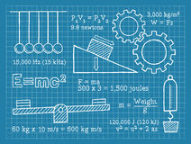 Física, ciência, escola, modelo Imagem de Stock