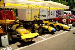 Fórmula única-seaters na bandeira 2017 da prata de Vernasca Imagem de Stock Royalty Free