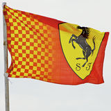 Fórmula 1 2010, bandeira de Melbourne de Ferrari Imagens de Stock