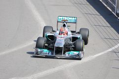 Fórmula 1 Mónaco Prix magnífico Shumacher Imagen de archivo