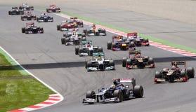 Fórmula 1 Prix magnífico español Fotos de archivo libres de regalías
