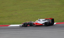 Fórmula 1. Sepang. Abril de 2010 Foto de archivo libre de regalías