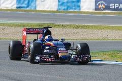 Fórmula 1 2015: Carlos Sainz Jr Fotografia de Stock Royalty Free