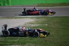 Fórmula 3 conducida por John Simonyan en Monza Fotografía de archivo