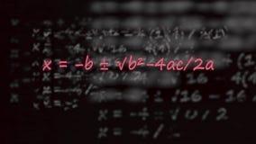 Fórmula cuadrático escrita en neón libre illustration