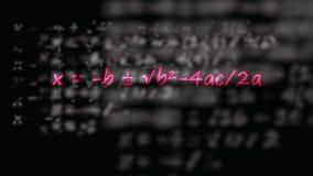 Fórmula cuadrático escrita en neón ilustración del vector
