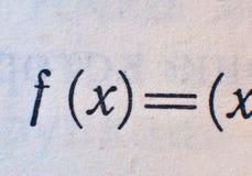 Fórmula da matemática Ilustração Royalty Free