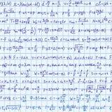 Fórmula de la física inconsútil Fotografía de archivo