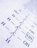 Fórmula de la química Fotos de archivo libres de regalías