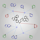 Fórmula de la química orgánica Foto de archivo libre de regalías