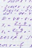 Fórmula de las matemáticas Fotos de archivo libres de regalías