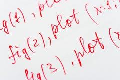Fórmula de las matemáticas en el papel Fotos de archivo libres de regalías