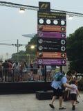 Fórmula 2015 de Singapur Grand Prix Imagen de archivo libre de regalías