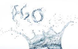 Fórmula del agua imagen de archivo libre de regalías