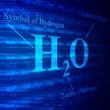 Fórmula del agua en la pantalla digital Fotos de archivo