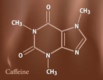 Fórmula del cafeína ilustración del vector