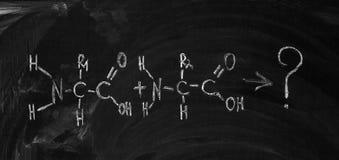 A fórmula do ácido aminado ilustração royalty free