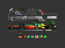 Fórmula 1 do Motorsport ilustração royalty free