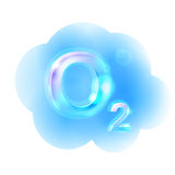 Fórmula do oxigênio Ilustração do vetor Foto de Stock