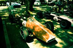 Fórmula 2 dos anos sessenta na bandeira 2017 da prata de Vernasca Foto de Stock Royalty Free