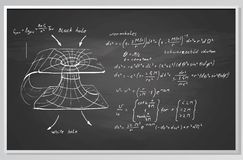 Fórmula e gráfico em uma placa Fotos de Stock
