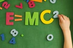 A fórmula E=mc2 de Einstein fotos de stock