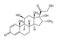 Fórmula estructural del dexamethasone Fotos de archivo
