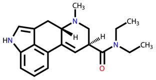 Fórmula estrutural do LSD ilustração stock