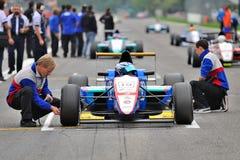 Fórmula europea Abarth en pista de raza de Monza Imagen de archivo