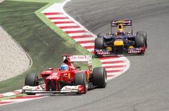 Fórmula 1 Grand Prix Imágenes de archivo libres de regalías