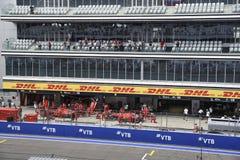 Fórmula 1 2018 La tribuna principal Grand Prix Sochi 2018 foto de archivo libre de regalías