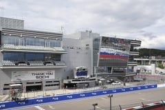 Fórmula 1 2018 La tribuna principal Grand Prix Sochi 2018 imagen de archivo