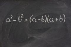 Fórmula matemática simples em um quadro-negro Imagens de Stock Royalty Free