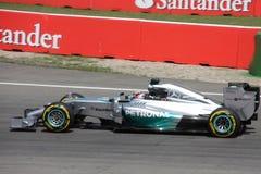 Fórmula 1 Mercedes Car de la foto F1: Lewis Hamilton Imagen de archivo libre de regalías