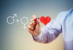 A fórmula para o amor Imagens de Stock