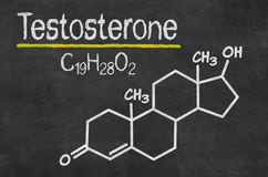 Fórmula química da testosterona Fotografia de Stock Royalty Free