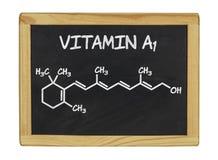 Fórmula química de la vitamina A Foto de archivo libre de regalías