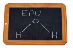 Fórmula química del agua en francés ilustración del vector