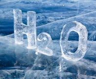 Fórmula química del agua H2O Fotos de archivo libres de regalías