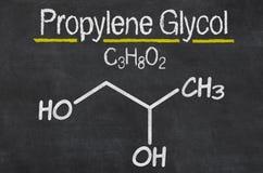 Fórmula química del glicol de propileno ilustración del vector