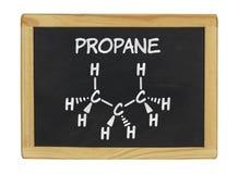 Fórmula química del propano Imagen de archivo