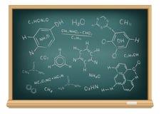 Fórmula química del tablero Imagen de archivo libre de regalías