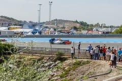 Fórmula Renault 3 5 séries 2014 - começo da raça Foto de Stock Royalty Free