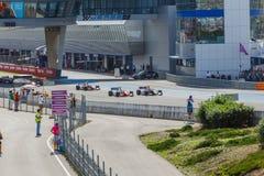Fórmula Renault 3 5 series 2014 - comienzo de la raza Imagen de archivo libre de regalías
