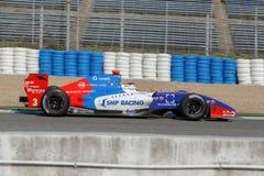 Fórmula Renault 3 5 series 2014 - Sergey Sirotkin - motores de Fortec Imagen de archivo