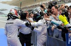 Fórmula 1 Sepang, Malasia 2014 del ganador Imagenes de archivo